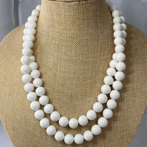 Richelieu while double strand beaded necklace